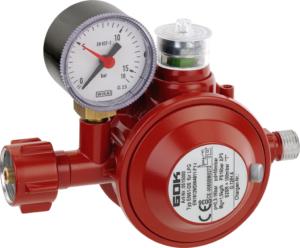 Druckregler, der gewerblich auch in Räumen verwendet werden kann, da er über eine thermische Absperreinrichtung (TAE) verfügt.