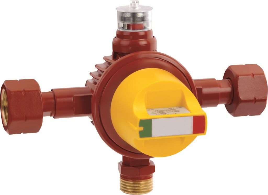Automatisches Umschaltventil AUV für Flüssiggasanlagen, unter anderem Vierflaschenanlagen