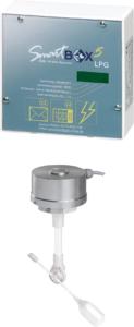 Mit dem System SmartBox 5 LPG PRO kann der Betreiber eines Flüssiggastanks selbigen via PC, Tablet-PC oder Smartphone überwachen.