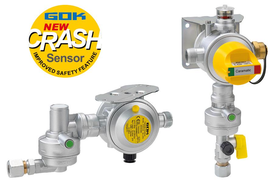 Sie sind Voraussetzung für die Gasversorgung im Wohnmobil oder Wohnwagen während der Fahrt: die Caramatic DriveOne (li.) oder die Caramatic DriveTwo (re.) - jeweils mit Crash-Sensor. Sie können zum Beispiel eine eingebaute Truma DuoControl CS oder Truma MonoControl CS ersetzen.
